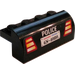 LEGO Brick 2 x 4 x 1.33 with Curved Top with GS-4080 License Plate and Tail Lights Sticker (6081)