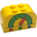 LEGO Brick 2 x 4 x 2 with Curved Top with Dial (4744)