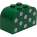LEGO Brick 2 x 4 x 2 with Curved Top with Light Green Dots (4744)