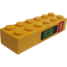 LEGO Brick 2 x 6 with Pump 1 and Gas Volumes Sticker (2456)