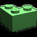 LEGO Bright Green Brick 2 x 2 Corner (2357)