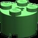 LEGO Bright Green Brick 2 x 2 Round (6143)