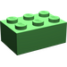 LEGO Bright Green Brick 2 x 3 (3002)