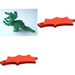 LEGO Bright Green Dragon Complete Assembly with Red Wings