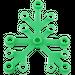 LEGO Bright Green Plant Leaves 6 x 5 (2417)
