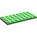 LEGO Bright Green Plate 4 x 8 (3035)