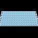 LEGO Bright Light Blue Plate 8 x 16 (92438)