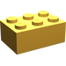 LEGO Bright Light Orange Brick 2 x 3 (3002)