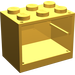 LEGO Bright Light Orange Cupboard 2 x 3 x 2 with Solid Studs (4532)