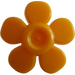 LEGO Bright Light Orange Flower with Smooth Petals (93080)