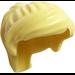 LEGO Bright Light Yellow Minifigure Medium Ponytail with Long Bangs (18227 / 87990)