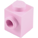 LEGO Bright Pink Brick 1 x 1 with Stud on One Side (87087)