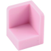 LEGO Bright Pink Panel 1 x 1 x 1 Corner with Rounded Corners (6231)