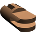 LEGO Brown Arm Section with 2 and 3 Stubs