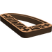 LEGO Brown Beam 3 x 5 x 0.5 Bent 90 Quarter Ellipse (32250)