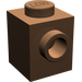 LEGO Brown Brick 1 x 1 with Stud on 1 Side