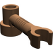 LEGO Brown Brick 1 x 1 x 2/3 Round with Bar and Vertical Clip (4735)