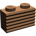 LEGO Brown Brick 1 x 2 with Grille (2877)