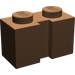 LEGO Brown Brick 1 x 2 with Groove (4216)