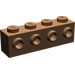 LEGO Brown Brick 1 x 4 with 4 Studs on One Side (30414)