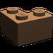 LEGO Brown Brick 2 x 2 Corner (2357)