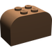 LEGO Brown Brick 2 x 4 x 2 with Curved Top (4744)