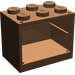LEGO Brown Cupboard 2 x 3 x 2 with Solid Studs (4532)