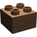 LEGO Brown Duplo Brick 2 x 2 (3437)
