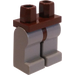 LEGO Brown Minifigure Hips with Light Gray Legs