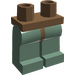 LEGO Brown Minifigure Hips with Sand Green Legs