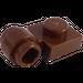 LEGO marron assiette 1 x 1 avec Agrafe (Anneau épais) (4081)