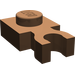 LEGO Brown Plate 1 x 1 with Vertical Clip (Thick 'U' Clip) (4085)