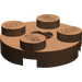 LEGO Brown Plate 2 x 2 Round with Axle Hole (with 'X' Axle Hole) (4032)