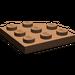 LEGO Brown Plate 3 x 3 Corner Round (30357)