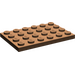 LEGO Brown Plate 4 x 6 (3032)