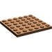 LEGO Brown Plate 6 x 6 (3958)