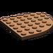 LEGO marron assiette 6 x 6 Rond Coin (6003)