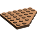 LEGO Brown Plate 6 x 6 without Corner (6106)