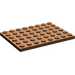 LEGO Brown Plate 6 x 8 (3036)