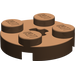 LEGO Brown Round Plate 2 x 2 with Axle Hole (with '+' Axle Hole) (4032)