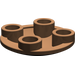 LEGO Brown Round Plate 2 x 2 with Rounded Bottom (2654)