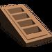 LEGO marron Pente 1 x 2 x 0.6 (18°) avec Grille
