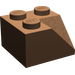 LEGO Brown Slope 2 x 2 (45°) with Double Concave (Rough Surface) (3046)