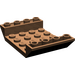 LEGO Brown Slope 4 x 6 (45°) Double Inverted with Open Center without Holes (30283)