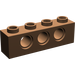 LEGO Brown Technic Brick 1 x 4 with Holes (3701)