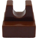 LEGO Brown Tile 1 x 1 with Clip (No Cut in Center) (2555)