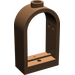 LEGO Brown Window 1 x 2 x 2.667 with Rounded Top (30044)