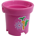 LEGO Bucket with Carrot, Apple, and Flower Sticker with Holes (48245)