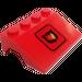 LEGO Car Mudguard 3 x 4 with Fire Logo Sticker (Medium) (2513)