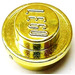 LEGO Chrome Gold Round Plate 1 x 1
